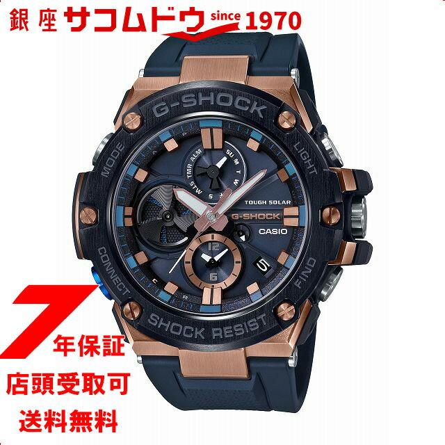 15b5e5361642 [カシオ]CASIO 腕時計 G-SHOCK ジーショック G-STEEL スマートフォン リンク GST-B100G-2AJF メンズ