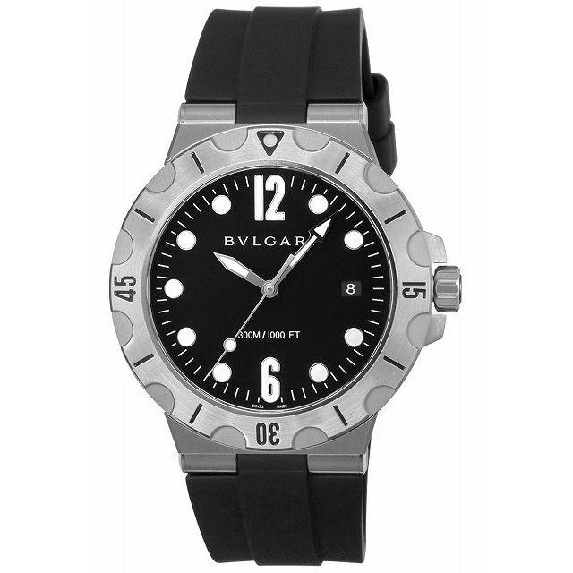 [店頭受取可][ブルガリ]BVLGARI 腕時計 ディアゴノプロフェッショナル ブラック文字盤 逆回転防止ベゼル ねじ込み式リューズ DP41BSVSD メンズ 【並行輸入品】