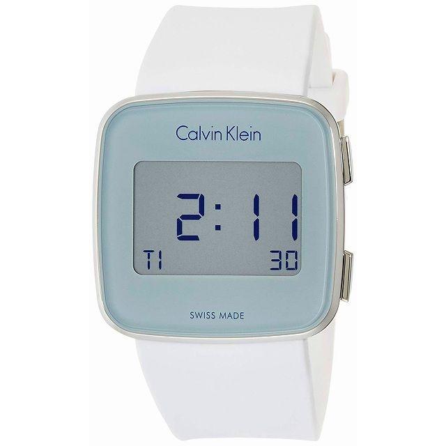 [ノベルティ付き][カルバンクライン]Calvin Klein CK メンズ レディース FUTURE フューチャー デジタル 39mm ホワイト K5C21UM6 腕時計