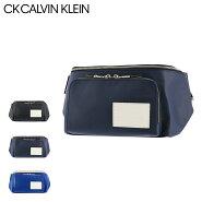CK カルバンクライン ウエストポーチ ジーニング メンズ875901 CK CALVIN KLEIN   ウエストバッグ 本革 レザー