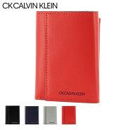 CK カルバンクライン 三つ折り財布 ミニ財布 ミニカラー メンズ876605 CK CALVIN KLEIN   ブランド専用BOX付き 本革 レザー