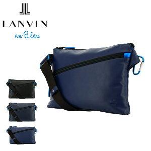 ランバンオンブルー ショルダーバッグ アルマイト メンズ554102 LANVIN en Bleu   斜めがけ サコッシュ 本革 牛革 レザー[PO10][bef]