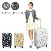 マーキュリーデュオ MERCURYDUO キャリーケース MD-0717-61 61cm 【 スーツケース キャリーカート TSAロック搭載 拡張式 レディース 】