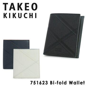 タケオキクチ 財布 二つ折り 薄型 メンズ ネクタイ 751623 TAKEO KIKUCHI 本革 レザー キクチタケオ ブランド専用BOX付き [PO5][bef]