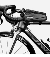 【150円OFFクーポン配布中】自転車スマホホルダー防水自転車トップチューブバッグ大容量6.5インチ多機種対応自転車フレームバッグスマホ自転車用ホルダーバイクホルダーバイクバッグスマホスタンド取り付け簡単小物入れPU+TPU送料無料