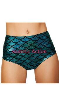【即納】ROMA High-Waisted Pucker Back Mermaid Shorts 【ROMA (ダンスウェア、衣装、コスチューム、小物)】【ハロウィンコスチューム】【コスチュームアクセサリー】【ボトム・スカート】【アンダーショーツ・フリルショーツ】【RM-CO-SH3313-BL】
