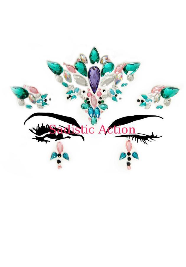 【即納】Leg Avenue Aria adhesive face jewels sticker. 【Leg Avenue (ストッキング、ランジェリー、衣装、コスチューム、小物)】【コスチュームアクセサリー】【その他】【LEG-ACC-EYE007】画像