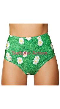 【即納】ROMA High Waisted Grass and Daisy Shorts 【ROMA (ダンスウェア、衣装、コスチューム、小物)】【ボトム・スカート】【アンダーショーツ・フリルショーツ】【RM-DW-3319】