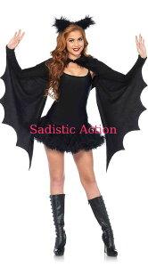 【即納】Leg Avenue Cozy Bat Shrug Set 【Leg Avenue (ストッキング、ランジェリー、衣装、コスチューム、小物)】【ハロウィンコスチューム】【コスチュームアクセサリー】【その他】【LA-CO-2146】