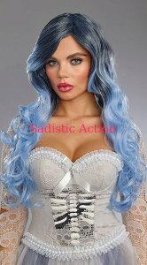 【即納】Dreamgirl Silver Blue Wig 【ハロウィンコスチューム】【コスチュームアクセサリー】【Dreamgirl(コスチューム、ランジェリーー、フェティッシュ)】【wig・ウィッグ】【DG-ACC-10815】