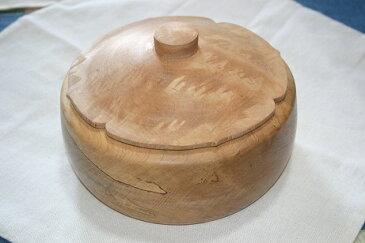 佐渡の木工芸品 イタヤの木で作った 柿の形の菓子器」(木工房・米)