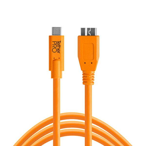 TETHER TOOLS(テザーツールズ) テザープロ USB-C to 3.0 Micro-B オレンジ CUC3315-ORG画像