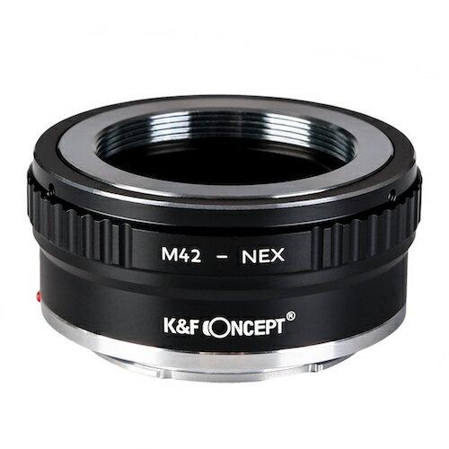 K&F Concept マウントアダプター (M42マウントレンズをソニーEマウントに取付け)KF-42E2