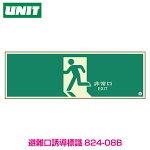 【蓄光板】避難口誘導標識300×900×1.2mm厚824-08