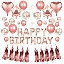 【クーポンで20%OFF】 バースデー バルーン 誕生日 飾り ゴールド ハート アルミバルーン HAPPY BIRTHDAY 風船