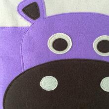 おもちゃ箱収納スリースプラウツストレージビン3sproutsヒッポのイラストかわいいフェルトの生地感
