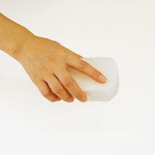 「SMARTHOMEトリプルスポンジホワイト」【スポンジ食器用グラス用鍋・フライパン用キッチンかわいい白大掃除】