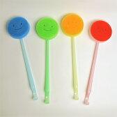「マーナ 首ふりバスタブ洗い」 全4色 柄つきバスブラシ【MARNA お風呂掃除 バススポンジ 大掃除】