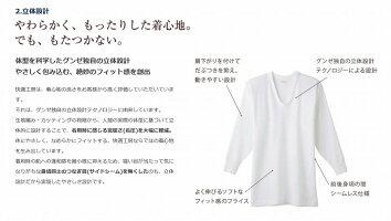 グンゼ肌着メンズ快適工房長ズボン下(前あき)2枚セット日本製綿100%ホワイト(Sサイズ・Mサイズ・Lサイズ)【送料無料】