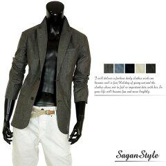 テーラードジャケット 夏 麻混 リネンジャケット リネン 麻ジャケット 長袖 メンズ S260…
