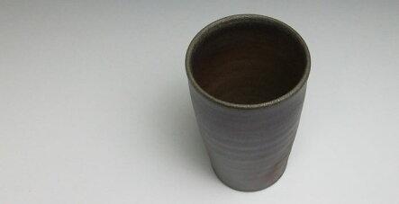 フリーカップビールグラス焼酎グラスタンブラー備前焼麦酒呑(大)(桟切)