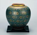 花器 フラワーベース 九谷焼 8号 花瓶 青粒鉄仙 送料無料 ap4-1051