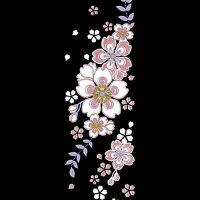 【和雑貨:彩り蒔絵シール】舞妓はんの華かんざし|4月(桜)