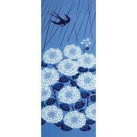 【てぬぐい花圃】kenemaブランド◇燕紫陽花(つばめあじさい)◇2014