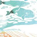 【注染手ぬぐい 生き物】 『クジラ』 kenema 【ゆうパケット送料無料!】【 日本製 手染め 手拭い てぬぐい 手ぬぐい 海の中 水族館 夏 くじら kenema 生き物 】 sps