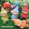 ガーデンオーナメント小人とキノコ(ドワーフ・こびと・かわいいガーデン雑貨・おしゃれ小物)