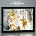 新製品!クリスマス3Dホログラムライトピクチャースノーマン(9725かわいい店舗装飾ディスプレイ飾りインテリア雑貨)