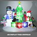 光るエアーディスプレイ ツリースノーマン 210cm (6531・クリスマスイルミネーション エアブ ...