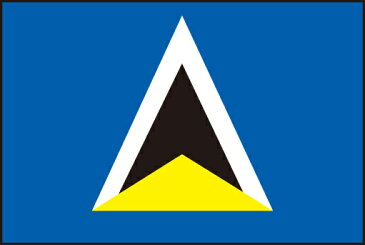 105cm 小サイズ・アクリル・国旗 セントルシア(Saint Lucia )・National flag【応援グッズ】