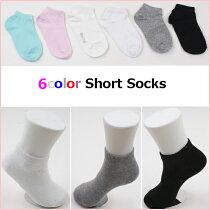 3color無地ショート丈ソックス靴下