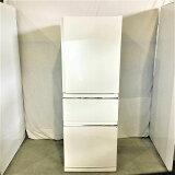 【中古品】 三菱 / MITSUBISHI MR-CX33A-W 3ドア冷蔵庫 右開きタイプ 2016年製 330L パールホワイト 10006183