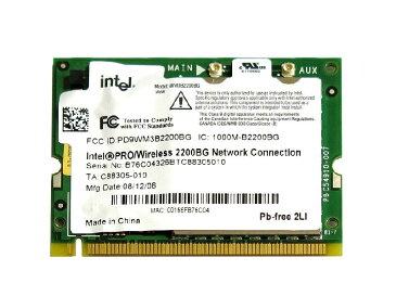 インテル Intel PRO/Wireless 2200BG Network Connection 802.11b/g Mini PCI 無線LANカード