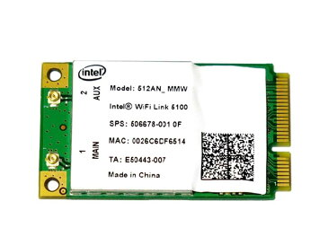 インテル Intel Wireless WiFi Link 5100 802.11a/b/g/n 300Mbps PCIe Mini 無線LANカード 512ANMMW