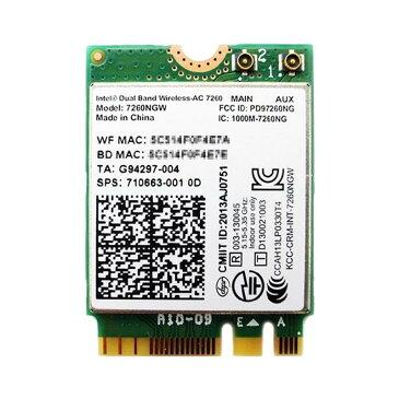 インテル Intel Dual Band Wireless-AC 7260 デュアルバンド 2.4/5GHz 802.11ac 最大867Mbps + Bluetooth 4.0 M.2 無線LANカード 7260NGW