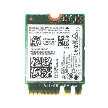 Lenovo純正 00JT464/00JT469/04X6030/00JT535 Intel Dual Band Wireless-AC 7265 867Mbps 802.11ac + Bluetooth 4.0 M.2 無線LANカード 7265NGW for Lenovo ThinkPad