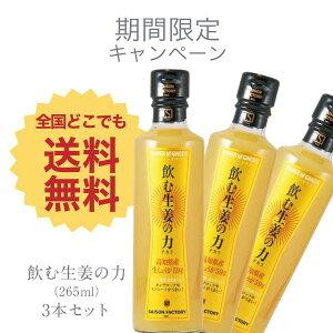 ■送料無料■飲む生姜の力3本セット