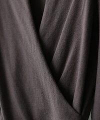 ニットカシュクールトップス長袖プルオーバーストレッチマタニティー対応妊婦授乳服通勤服ママなめらかレーヨンカシミアタッチドレープ体型カバーリニューアルレディースニット秋冬きれいめカジュアル