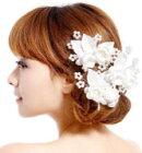 ヘッドドレス薔薇(白)