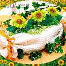 【ビーズフラワーキット】ひまわりのたまごアレンジビーズワイヤー作り方等の材料付(手作りギフト、手芸キット)ビーズが咲いたよ