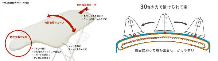 LS-01 アイロン台 フロア式 日本製 安定感 脚 丈夫 長く使える 機能性 特許 プロ 立体構造 カーブ ぐらつかない 高級アイロン台