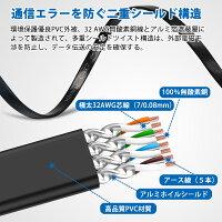 HanmirLANケーブルCAT7ウルトRJ45コネクタギガビット10Gbps/600MHz高速光通信対応ツメ折れ防止CAT7準拠ストレート薄型金メッキコネクタイーサネットケーブルシールドモデムやわらかスリムルータ/ハブ/Xbox/PS3などに適用(5M)