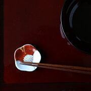 箸置き椿紅白