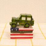 アーミージープJEEPミニケース小物収納小物入れプレゼントアメリカ雑貨インテリア迷彩/USARMYCAR