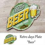 ブリキ看板ダイカット[Beer]ビールサインプレートアメリカ看板ガレージ世田谷ベースアンティーク店舗