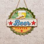 ブリキ看板ダイカット[Beer]ビールサインプレートアメリカ看板ガレージ世田谷ベースアンティーク店舗レトロ