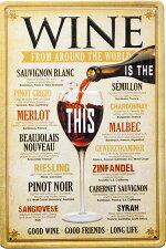 ブリキ看板アンティークエンボスプレートワインバーアメリカ雑貨/wine